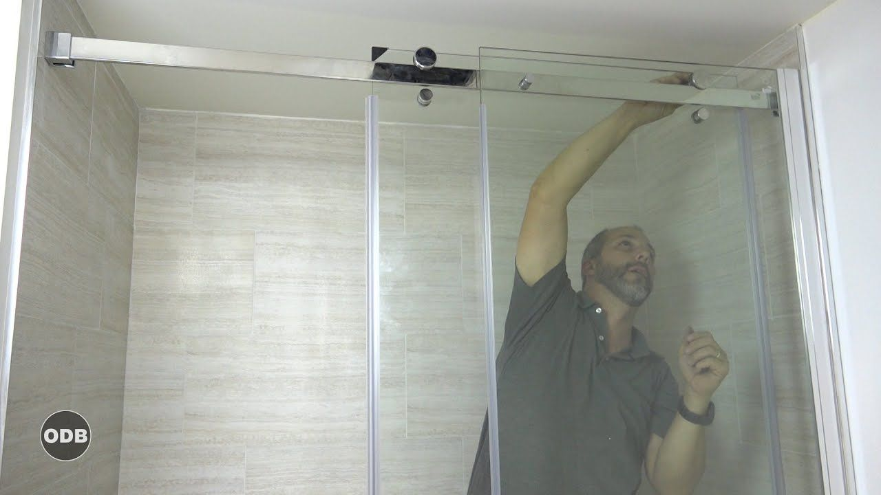 How To Install A Modern Glass Shower Door Kit Youtube Shower Door Kit Shower Doors Glass Shower Door Kits