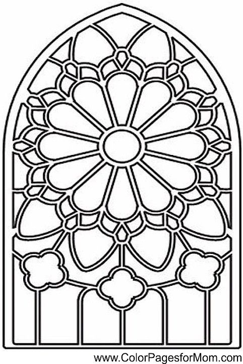 stained glass coloring page 13 | paint night | Pinterest | Mandalas ...
