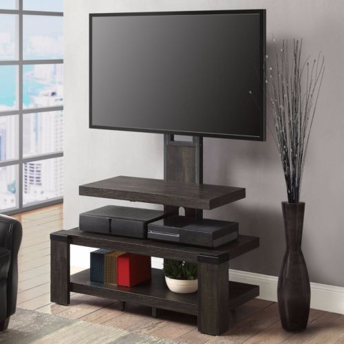 50 Inch Tv Stand With Mount Flat Screen Wood Media Center Console