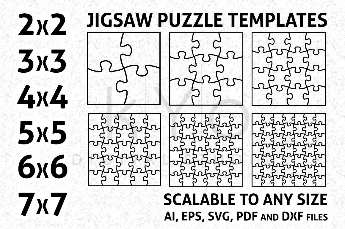 Pattern Jigsaw Puzzle Template Stock