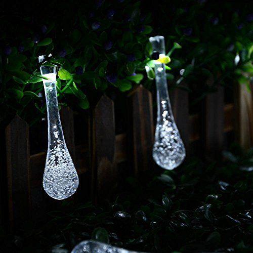 lederTEK Solar Christmas Lights 19.7ft 6m 30 LED 8 Modes Solar Light String Crystal Water Drop Solar Fairy String Lights for Outdoor, Gardens, Homes, Wedding, Christmas Party, Waterproof (30 LED White), http://www.amazon.com/dp/B00SMHTHKC/ref=cm_sw_r_pi_awdm_v3-Tvb0898AE0