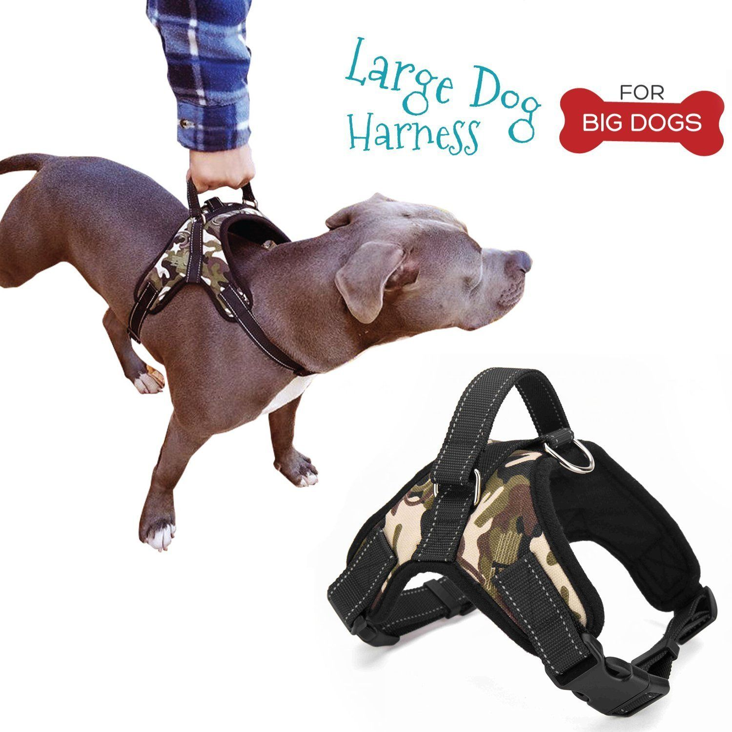 Large Dog Harness And Free Leash Best Dog Harness With Handle