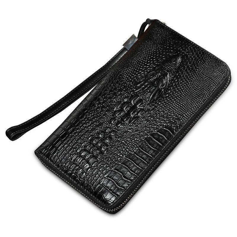 Casos carteira telefone 2016 New Fashion Designer High Quality Large Capacity Genuine Leather Men Clutch Bag Men's Antitheft Wristlet Black Long Wallets -- Clique no botão VISITAR para obter uma descrição detalhada
