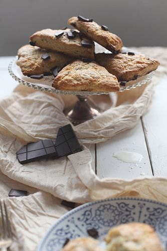 Chocolate malt cream scones by julie marie craig, via Flickr.