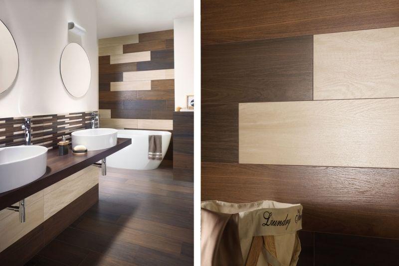 Fantastisch Badezimmer Fliesen In Holzoptik In Beige Und Braun