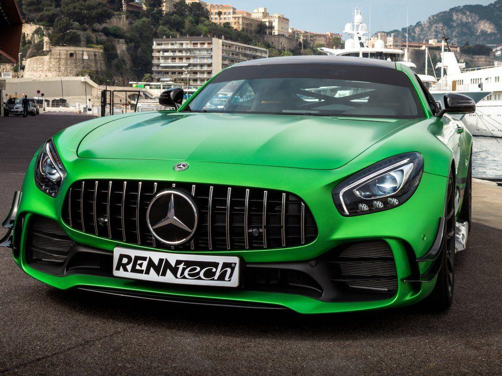 MercedesAMG GT R, Renntech custom, front, green, 2018