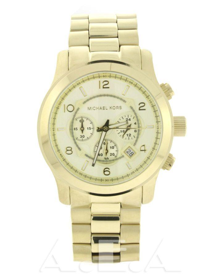 Michael Kors MK 8077 Runway Gold-tone MK8077 Stainless Steel Unisex Watch  Men s Watches, 25dba96572