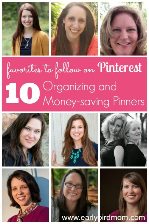 Are you on the look-out for fresh new faces to follow on Pinterest? I love discovering new pinners to follow to help fill up my Pinterest boards.Today I'm introducing you to 10 of my favorite organizing and money-saving pinners. These women all have excellent taste and an eye for ideas that not only look great, but are practical and affordable.