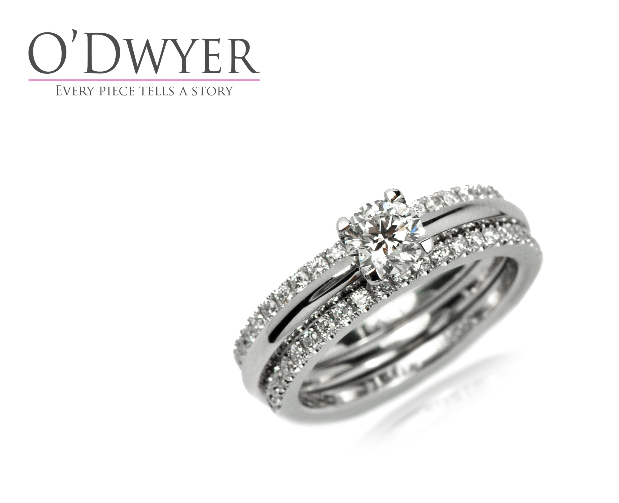 Finesse Ring Finesse Solitaire Ring With Two Castel