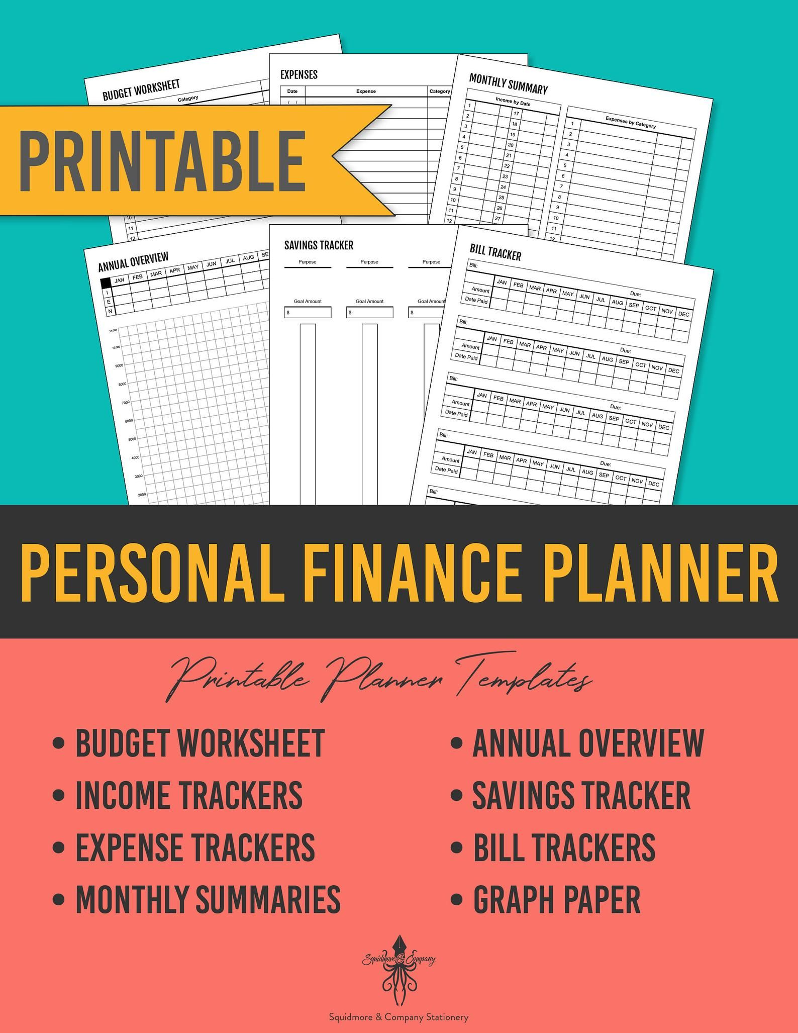 Printable Personal Finance Planner Budget Book