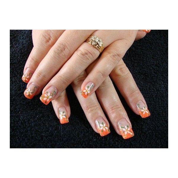 Nails Art Mania (orange nails) via Polyvore | Polyvore Fashions ...