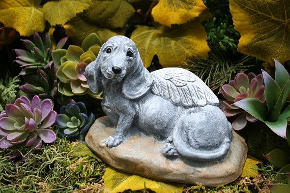 Dachshund Angel Dog Garden Sculpture X2f Doxie Angel Statue I