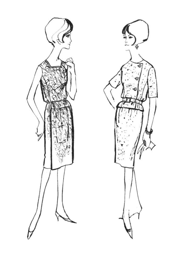 Pin By Mackenzie Turner On Fashion 1960s Colorful Fashion Coloring Pages Coloring Pages To Print