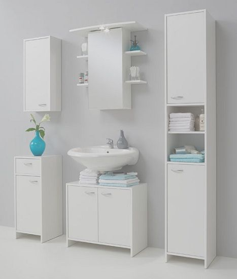 Madrid1 Wall Mount Bathroom Storage Cabinet In White With 1 Door Small Bathroom Storage Bathroom Storage Storage Cabinets