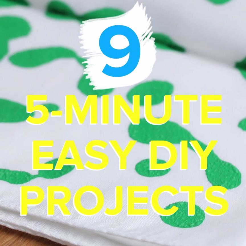 9 Five Minute Diy Projects Manualidades Diy Diy Projects Y Crafts