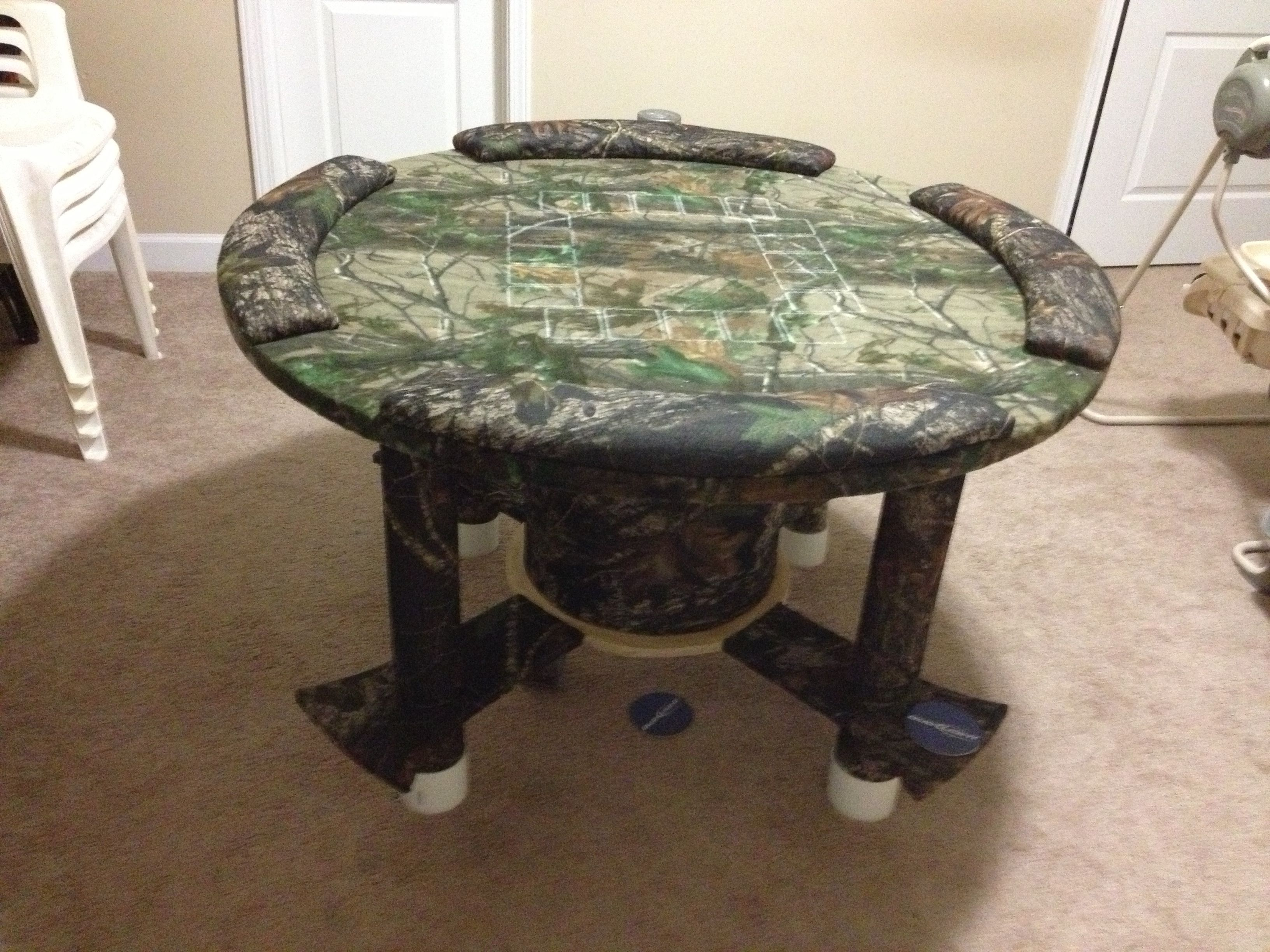 Homemade Poker Table Out Of A Spool Crafts Diy Poker Table