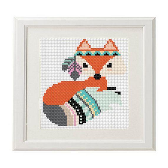 Fox Cross Stitch Pattern pdf Pattern Instant Download Cross Stitch ...