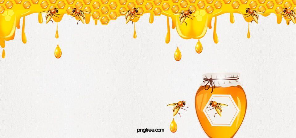 Fondo De Abeja De Panal De Miel Amarilla Logo Bee Cartoon Bee Bee Art