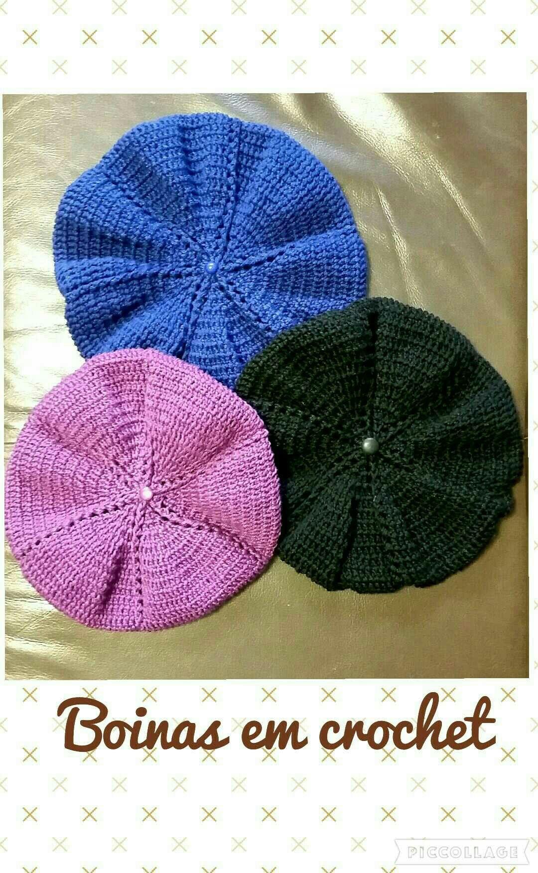 Boinas adulto em crochet