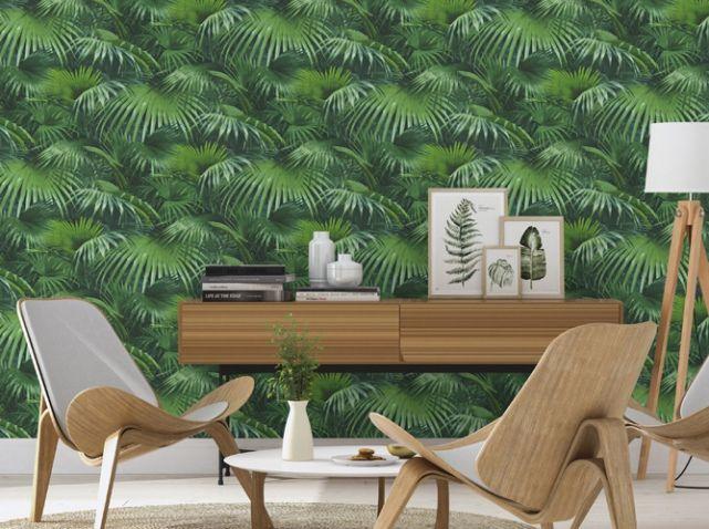 La tendance du jour  le papier peint tropical - Elle Décoration