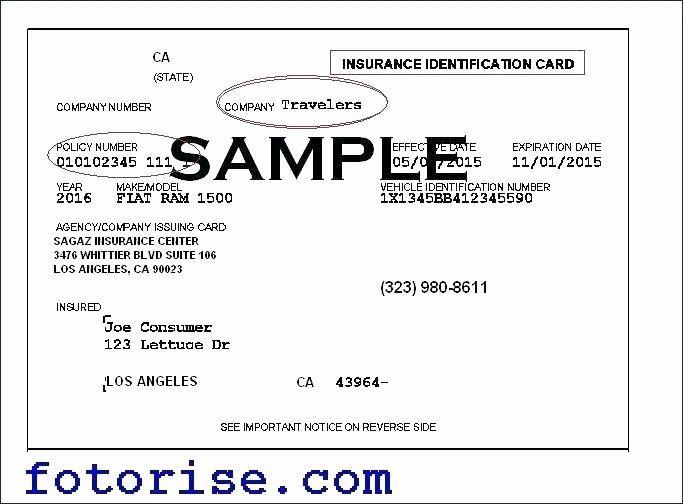 Fake Health Insurance Card Template Luxury Fake Insurance ...