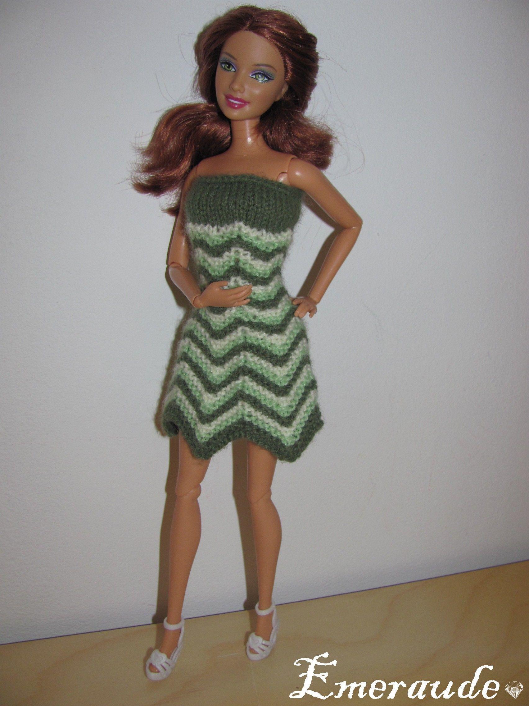 Tricot Barbie: Robe d'été n°21 | Tricot barbie, Vêtements barbie, Tricot