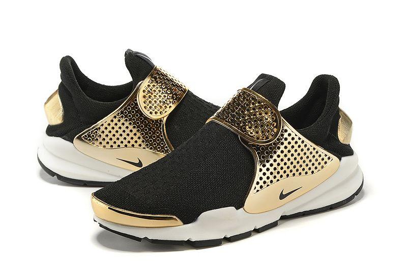 ec3955032208 New release Fragment x Nike Sock Dart gold-black sneaker