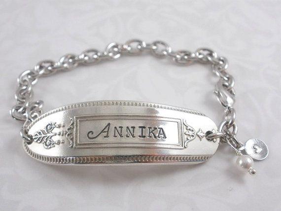 Vintage Silver Flatware Bracelet  Hand by BarbFredinDesigns, $35.00
