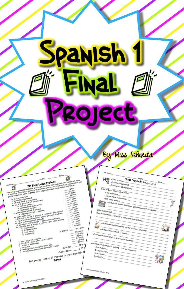 Spanish 1 Final Project | Assessment | Spanish 1, Spanish