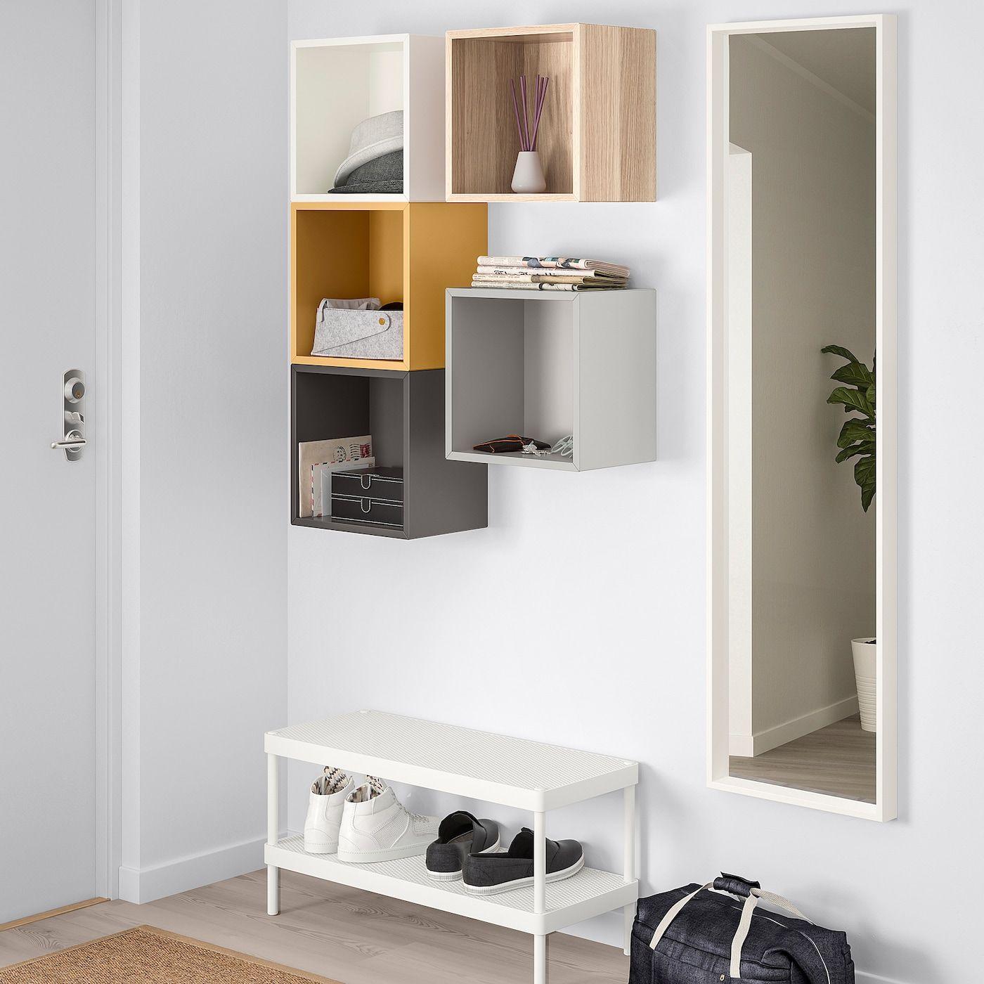 Libreria Da Parete Ikea ikea eket multicolor 1 wall-mounted storage combination in