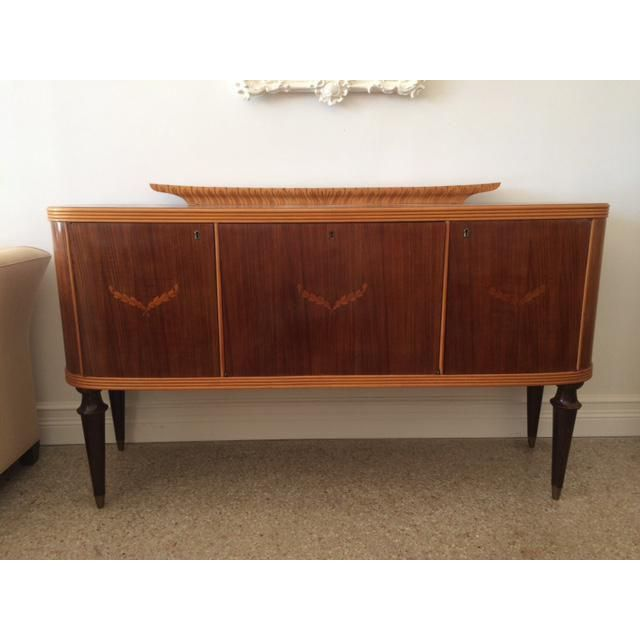 French 1940 S Moderne Marquetry Sideboard And Bar Image 2 Of 11 Sideboard Sideboard Buffet Credenza