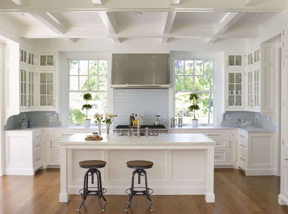 example of a small classic u shaped dark wood floor open concept kitchen design in seattle with on kitchen ideas u shaped layout id=75713