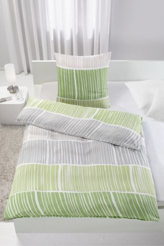 Bettwäsche aus 100% Polyester in der Farbe Grün. B/L: ca. 135/200cm ...