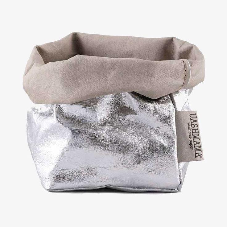 La bolsa de papel Uashmama plateada reduce el desperdicio. Hecho de un papel lav…