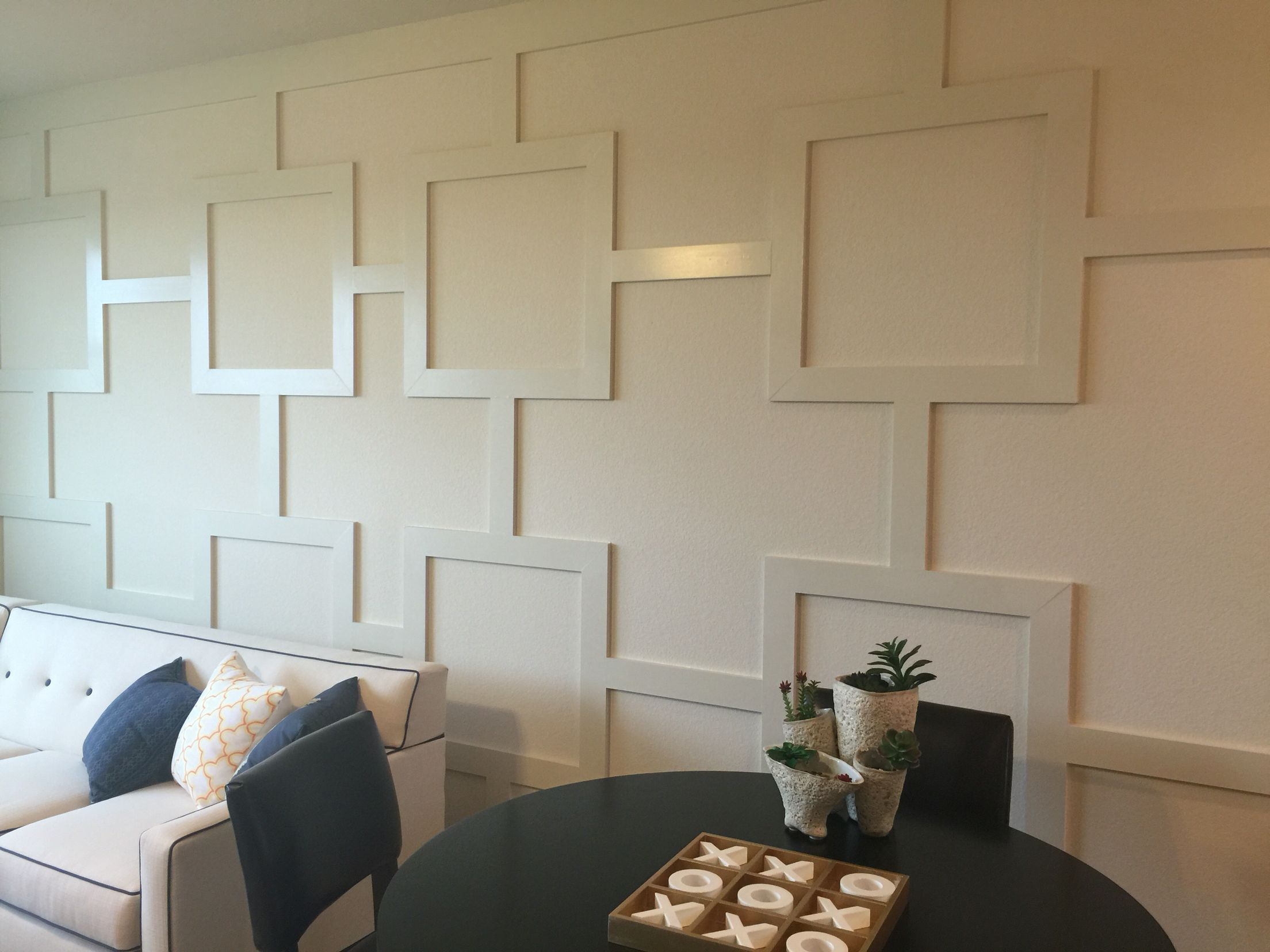 Wood Trim Design Accent Wall. Simply Use 1x4's To Add This