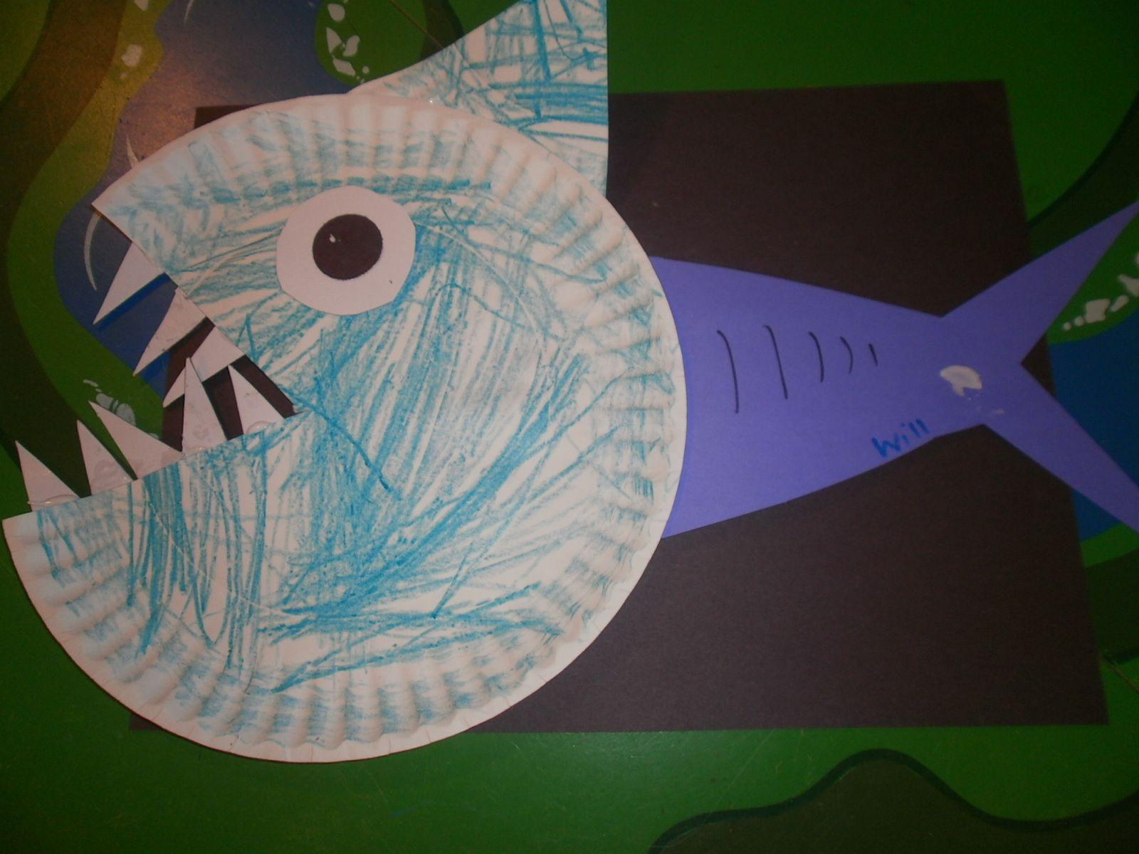mycreativedays: Shark Craft For Kids Ocean crafts Shark