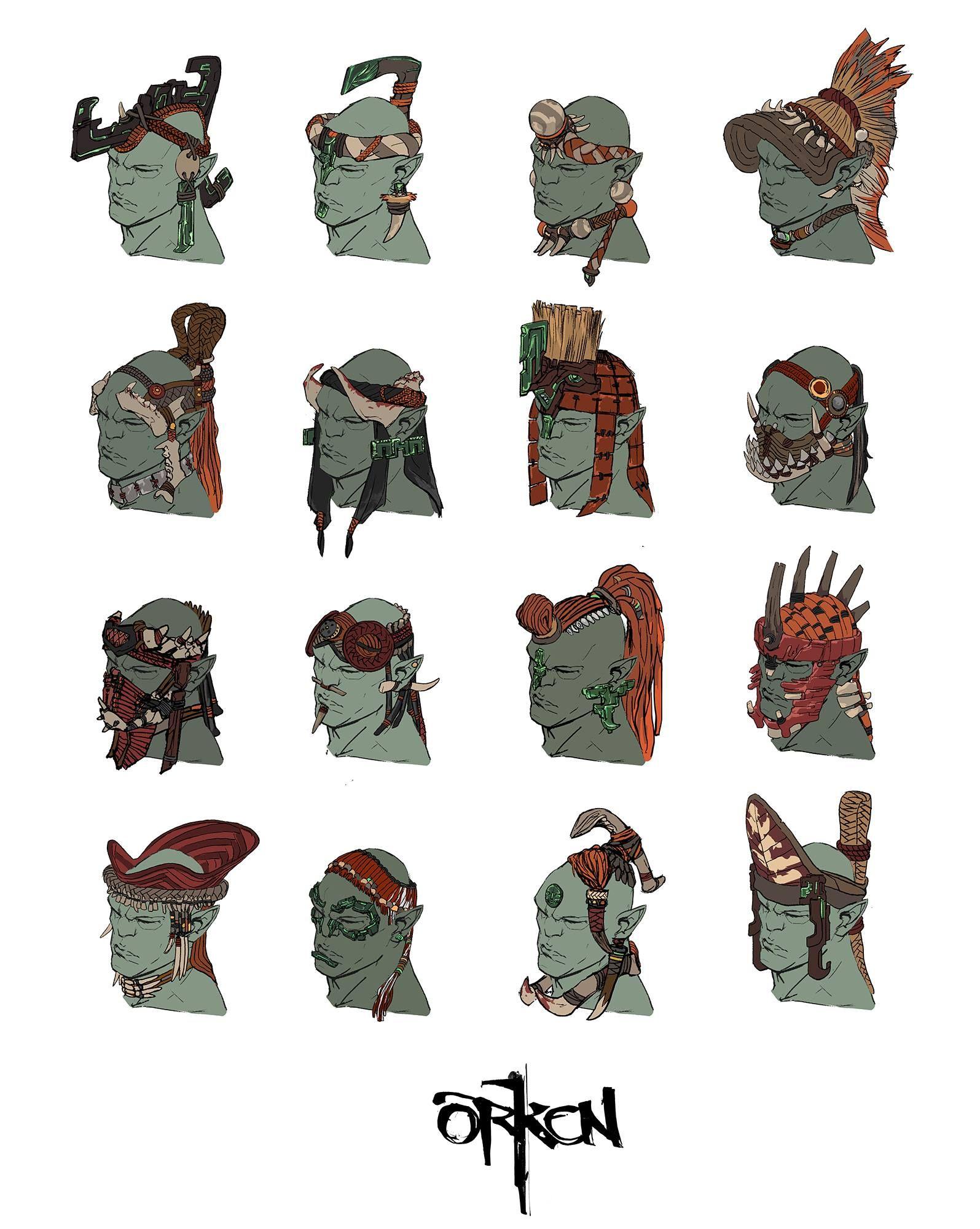 Character Design Quarterly Vk : Orken concept art photos vk barbarian
