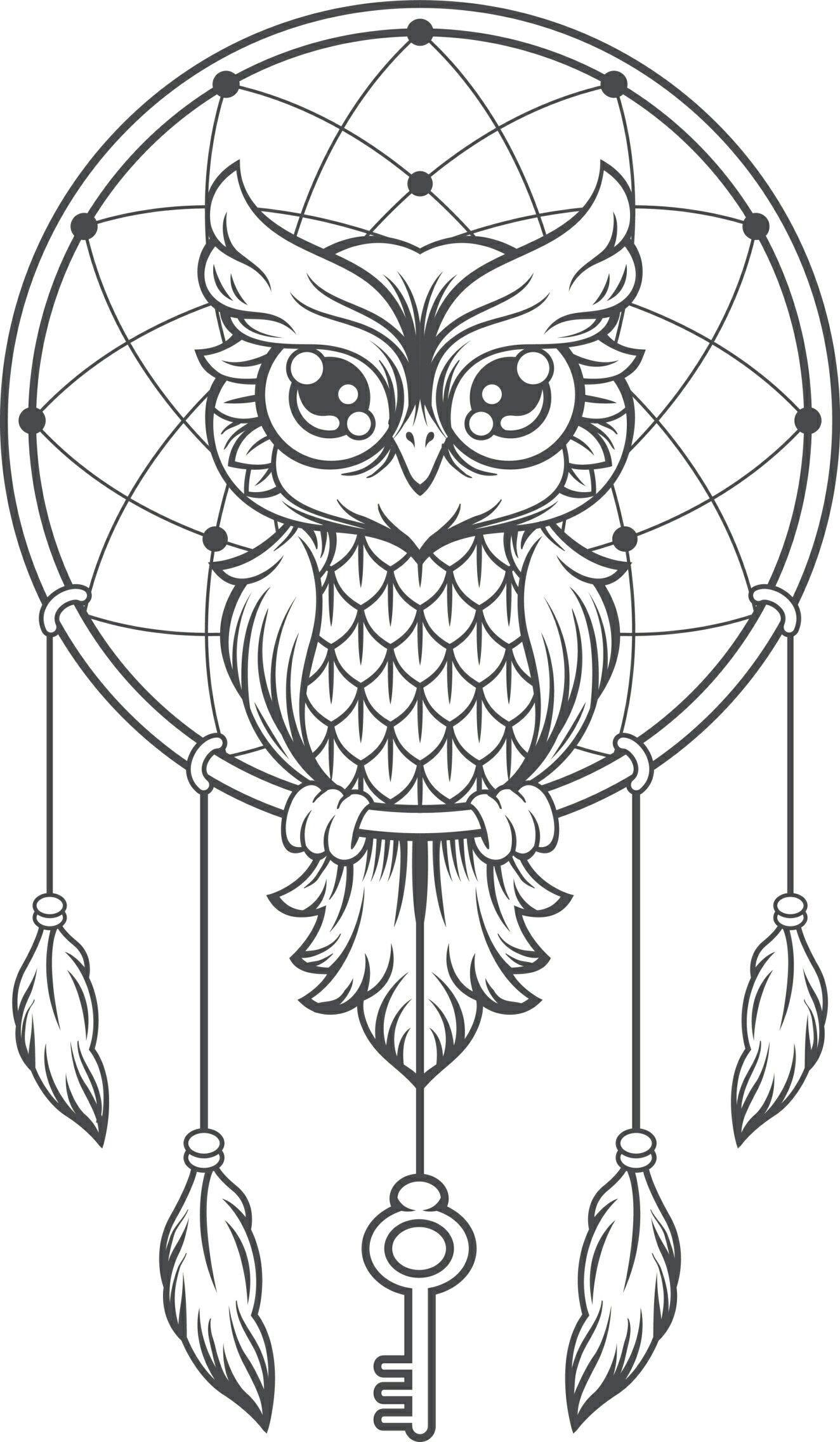 Tattoo Owl Dreamcatcher