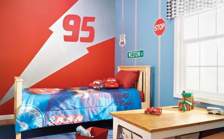 Lightning Mcqueen Room Glidden Disney Paints Available At Walmart Cars Room Lightening Mcqueen Bedroom Kid Room Decor
