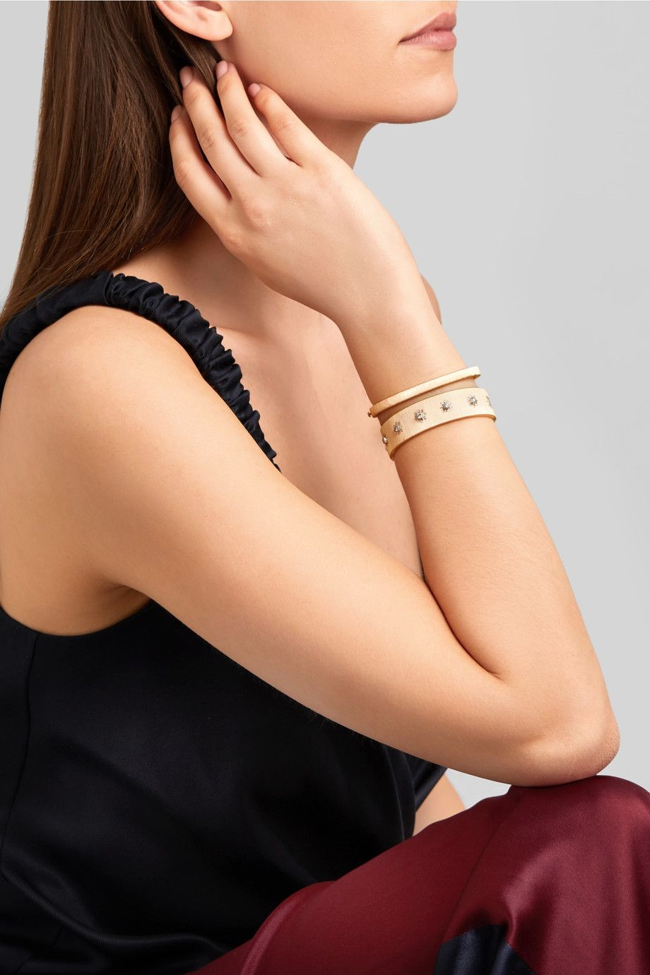 Buccellati macri karat gold diamond bracelet netaportercom
