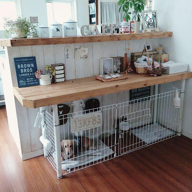 ベッド周り Diy キッチンカウンター Tino Handmade などのインテリア実例 2015 11 02 12 31 59 Roomclip ルームクリップ 犬の部屋 インテリア 犬の家具