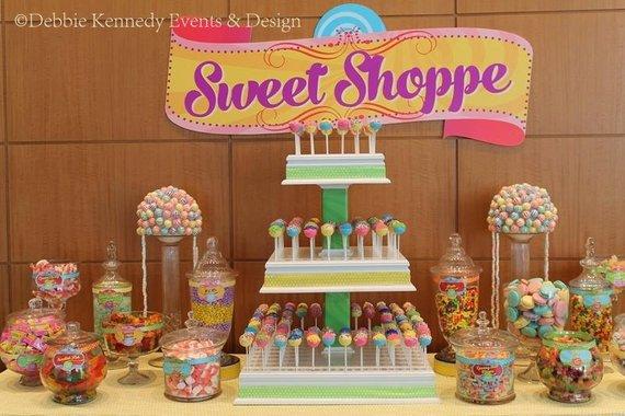 Candy Shop Backdrop Party Printable Sign Diy Print Custom