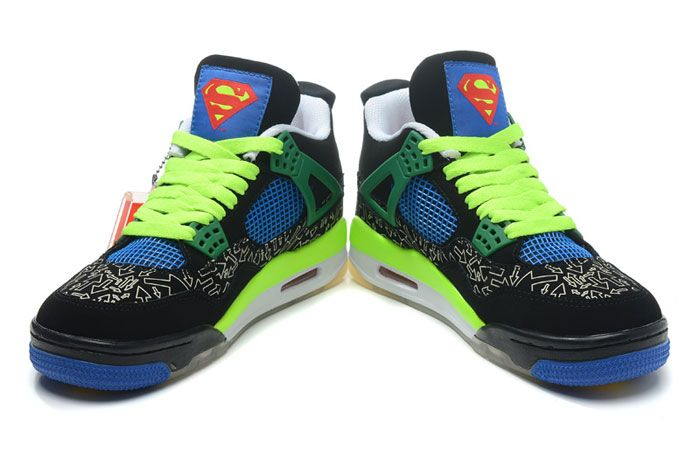 the latest 58fd1 930dc ... amazon superman air jordan 4 doernbecher retro db black green adult  sneakers 49faa d4955