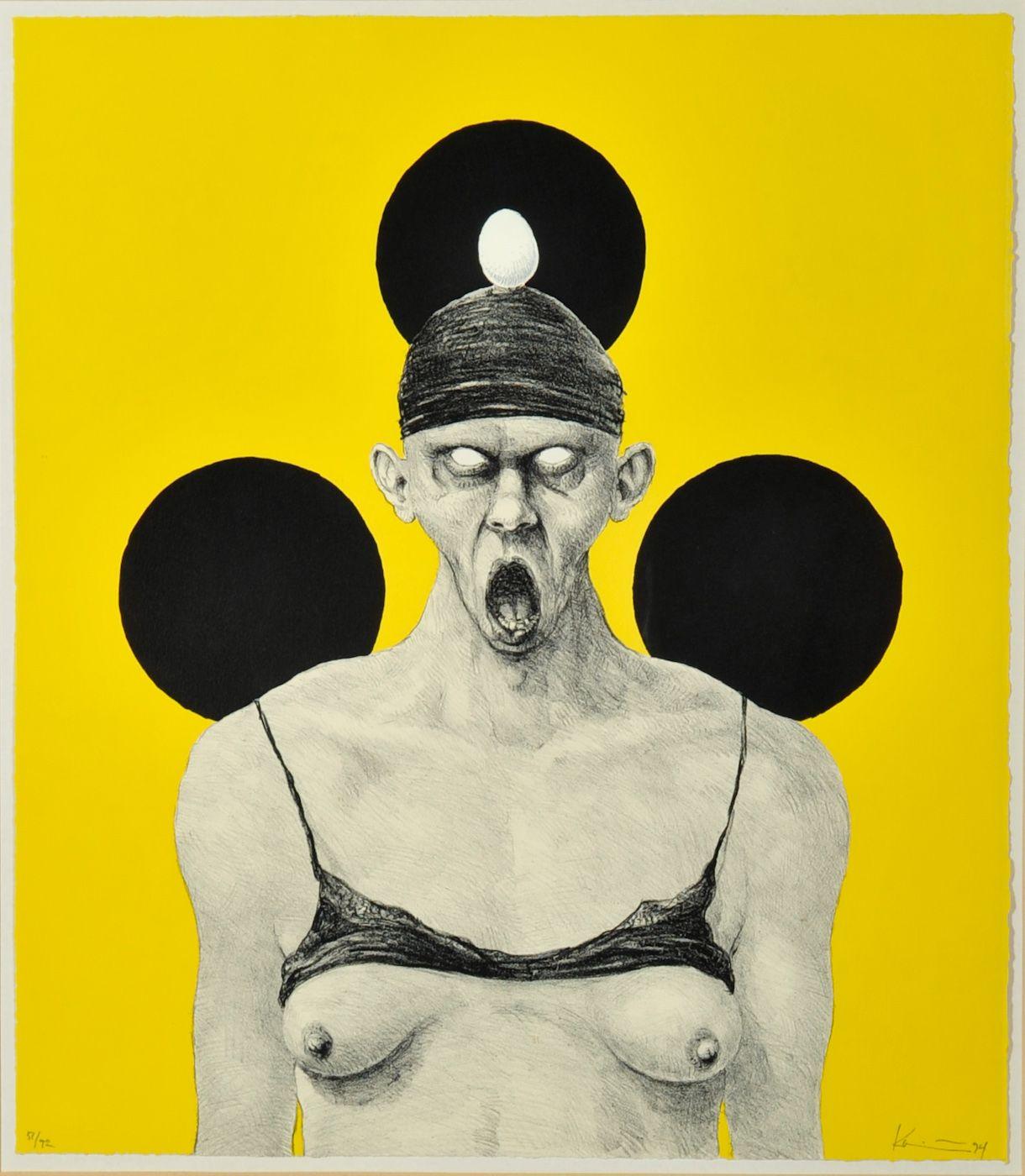 Michael Kvium Kunstnere Gyser Plakater