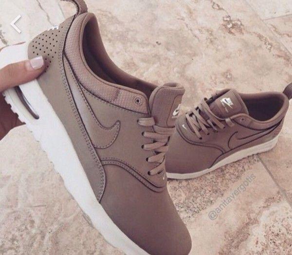 buy online 82689 ca476 Shoes nike, nike running shoes, brown, nike shoes, nike sneakers, tumblr,  cute, style, nike nude, air max, nude, beige, nude nike air thea, nude  sneakers, ...