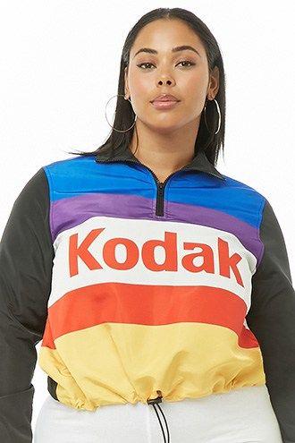 41309bcb293aa Plus Size Kodak Colorblock Pullover Windbreaker