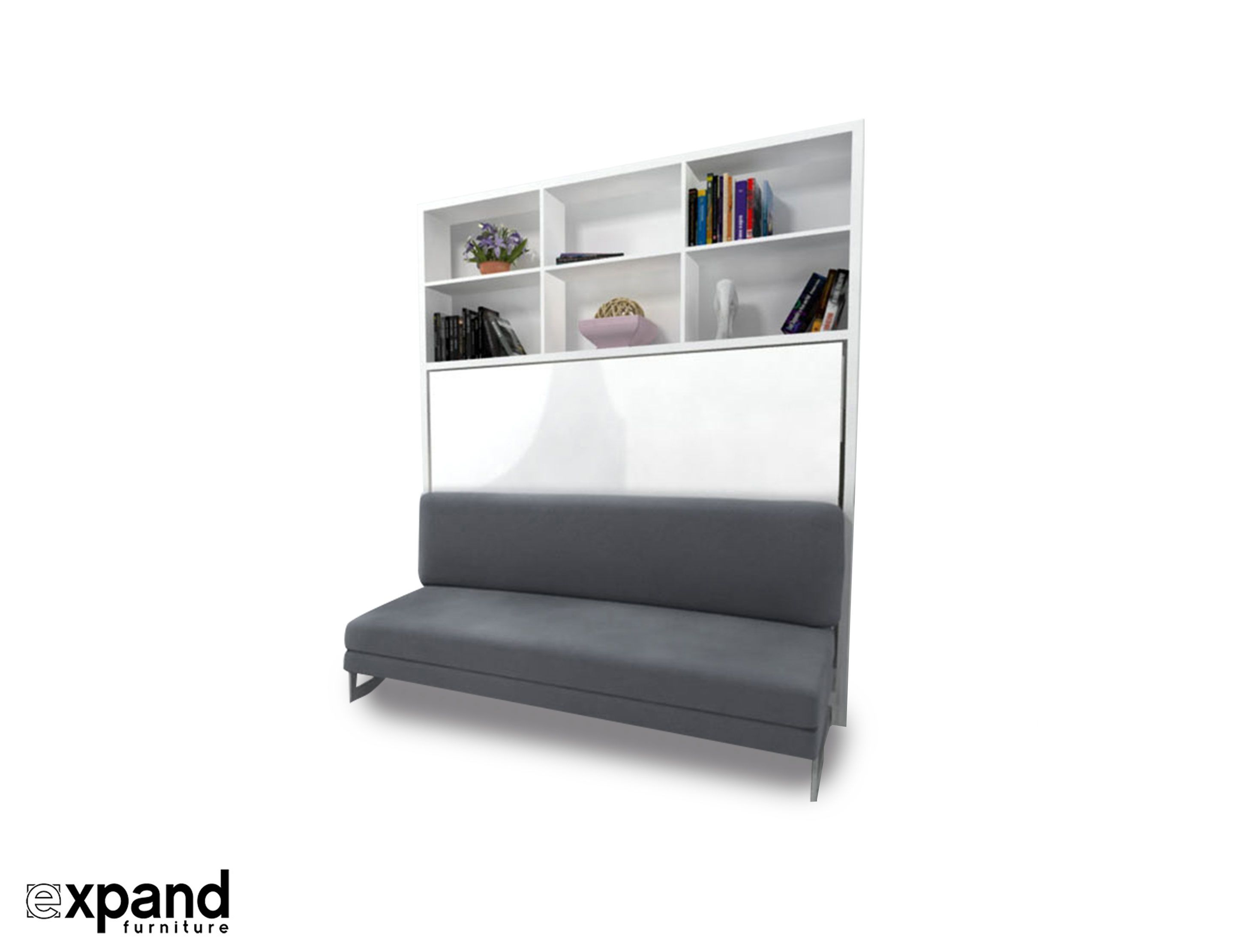 Compatto Horizontal Wall bed over Sofa Murphy bed, Bed