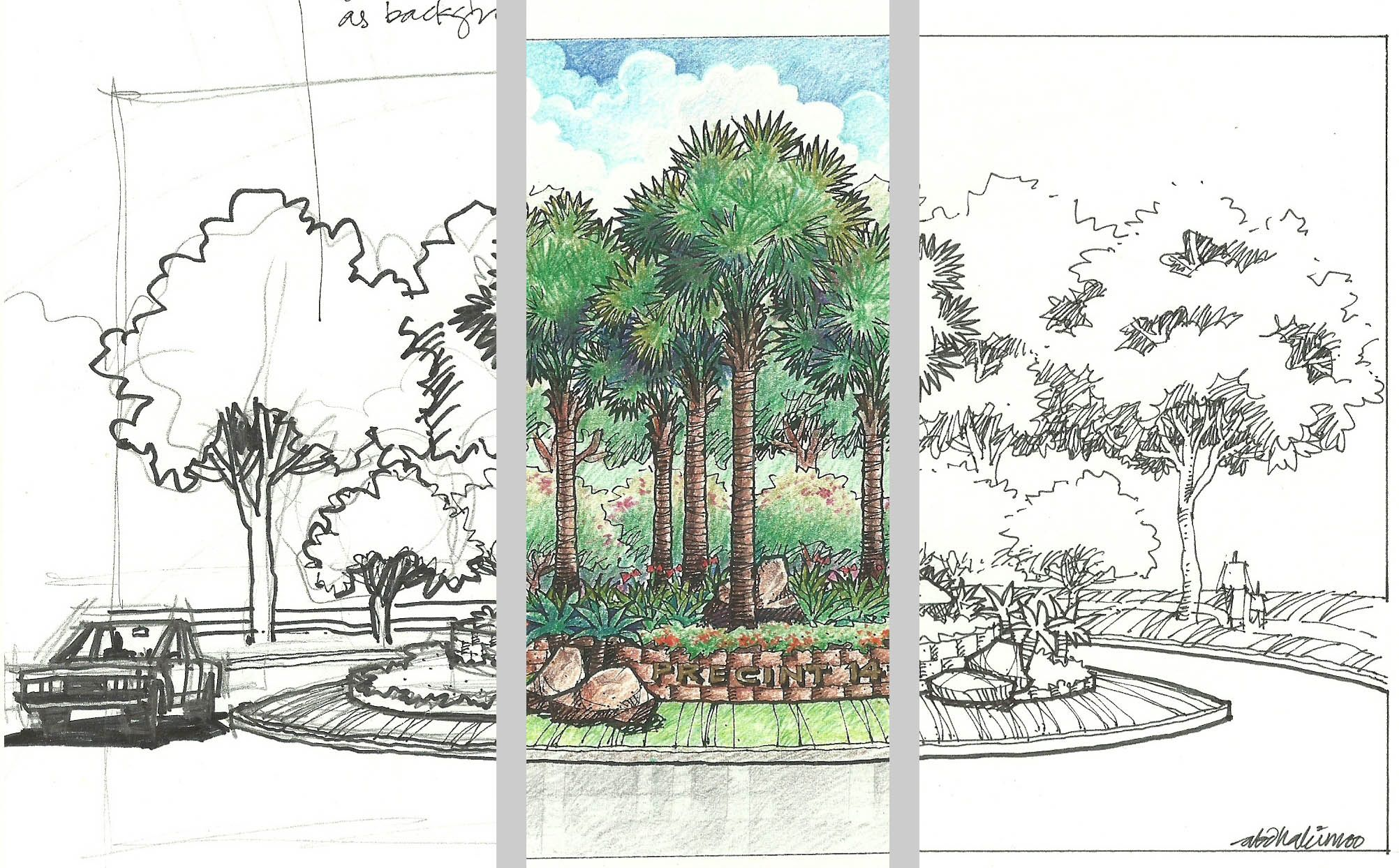 Image gallery modern landscape design sketches for Plot plan drawing software