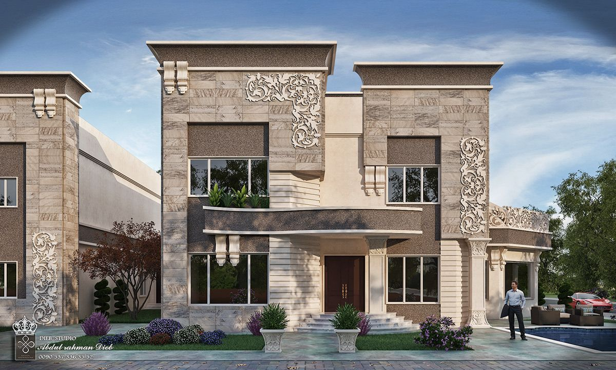 Strange Simple New Classic Villa On Behance Luxury Exterior Design Villa Design Classic House Exterior