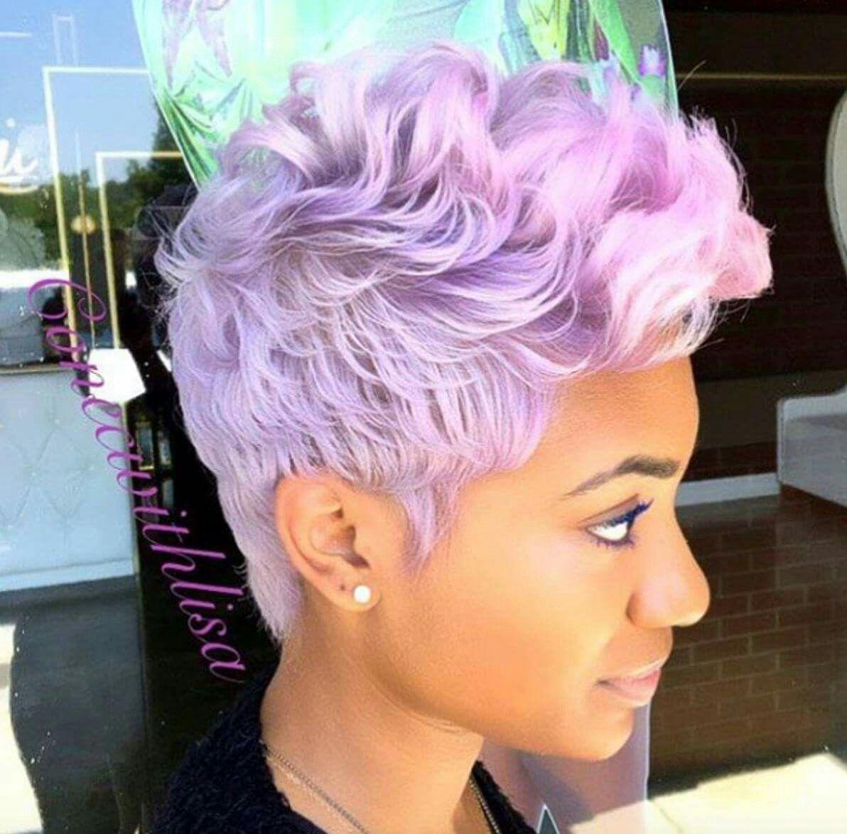 Colored pixie cut natural hair hair colour pinterest